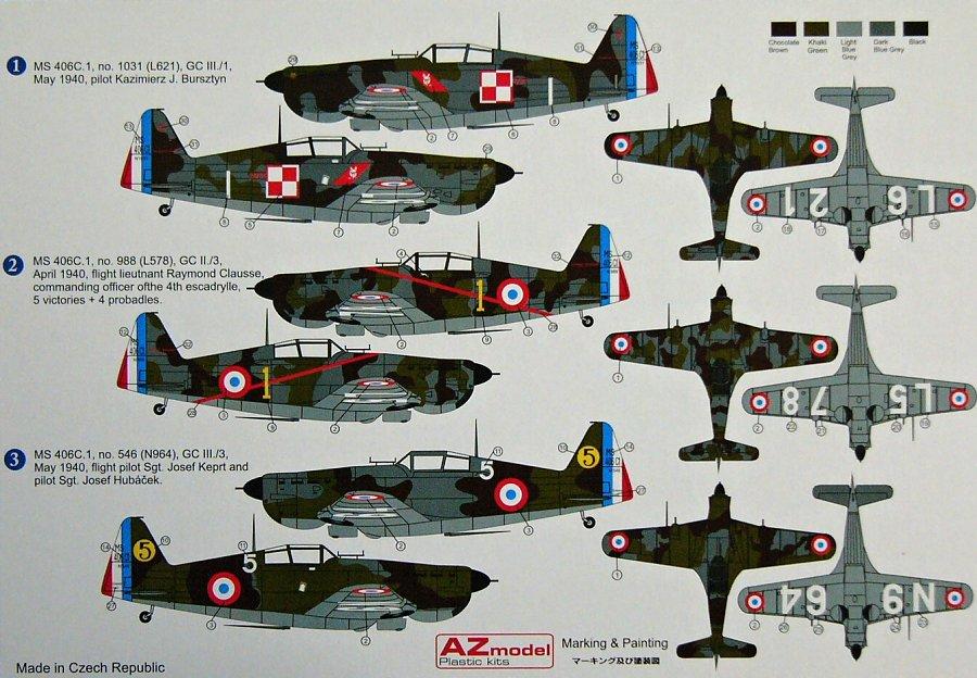 MODELIMEX Online Shop   1/48 Morane Saulnier MS-406 C.1 Battle of France    your favourite model shop