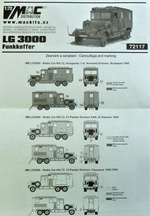 72 in 1//72 von MAC MB LG-3000 Funkkoffer Kfz